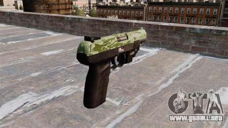 Pistola FN Five seveN LAM Verde Camo para GTA 4 segundos de pantalla