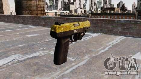 Pistola FN Five seveN de Oro LAM para GTA 4 segundos de pantalla