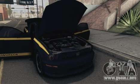 Ford Mustang Shelby Terlingua 2008 NFS Edition para vista lateral GTA San Andreas