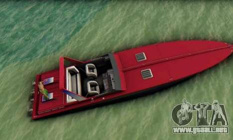Wellcraft 38 Scarab KV para la visión correcta GTA San Andreas
