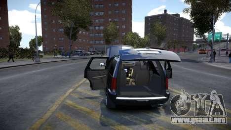 Cadillac Escalade para GTA 4 vista interior