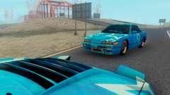 Nissan Silvia S13 Blue Star para GTA San Andreas