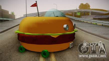 Spongebobs Burger Mobile para GTA San Andreas