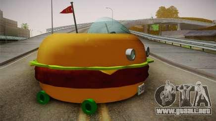 Spongebobs Burger Mobile para GTA San Andreas
