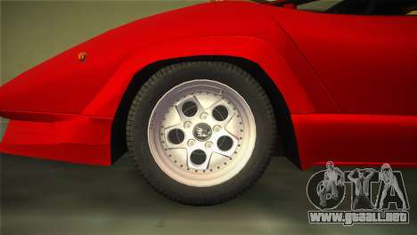 Lamborghini Countach 1988 25th Anniversary para GTA Vice City visión correcta