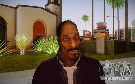 Snoop Dogg Skin para GTA San Andreas tercera pantalla