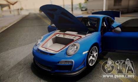 Porsche 911 GT3 RS4.0 2011 para la vista superior GTA San Andreas