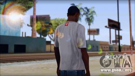 Element T-Shirt para GTA San Andreas segunda pantalla