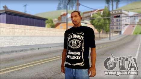 Jack Daniels Fan T-Shirt Black para GTA San Andreas