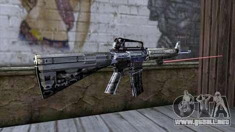 M4A1 con mira láser para GTA San Andreas segunda pantalla