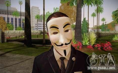 Anonymous Skin para GTA San Andreas tercera pantalla