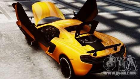 McLaren 650S Spider 2014 para GTA 4 visión correcta