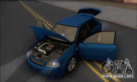 Audi A3 1999 para vista lateral GTA San Andreas