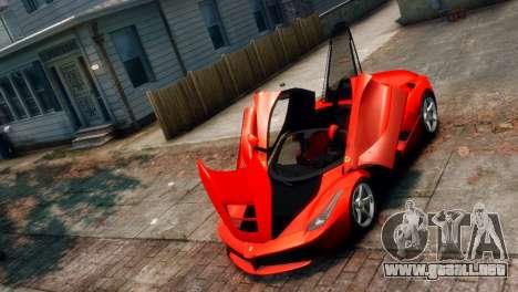 Ferrari LaFerrari para GTA 4 vista hacia atrás