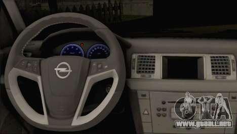 Opel Vectra C para GTA San Andreas vista posterior izquierda