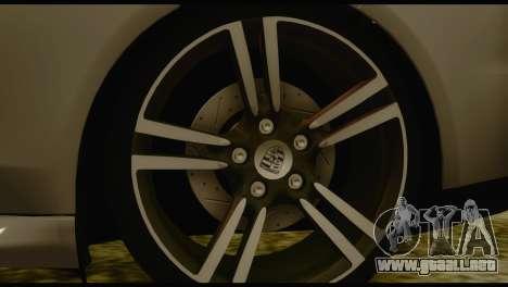 Porsche Panamera GTS para GTA San Andreas vista posterior izquierda