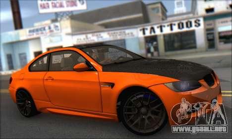 BMW M3 E92 Soft Tuning para GTA San Andreas vista posterior izquierda