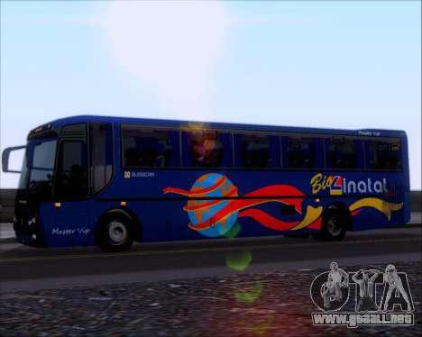 Busscar El Buss 340 Bio Linatal para GTA San Andreas vista hacia atrás
