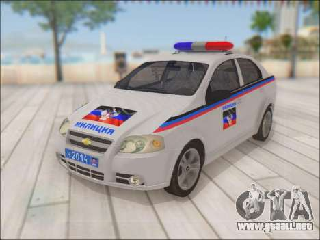 Chevrolet Aveo Policía no molestar para GTA San Andreas