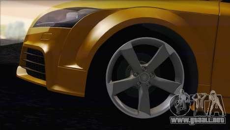 Audi TT RS v2 2011 para GTA San Andreas vista posterior izquierda