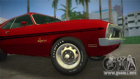 Dodge Dart Demon 340 1971 para GTA Vice City vista posterior