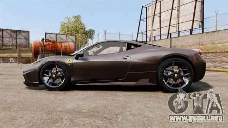 Ferrari 458 Italia Speciale Novitec Rosso para GTA 4 left