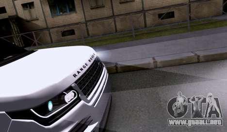 Land Rover Range Rover Startech para GTA San Andreas vista hacia atrás