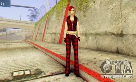 Red Girl Skin para GTA San Andreas sucesivamente de pantalla