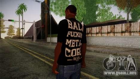 Room 401 T- Shirt para GTA San Andreas segunda pantalla