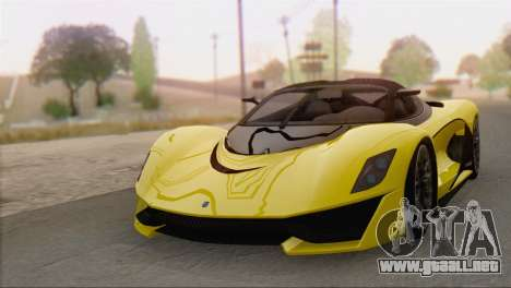 GTA V Turismo R para GTA San Andreas vista posterior izquierda