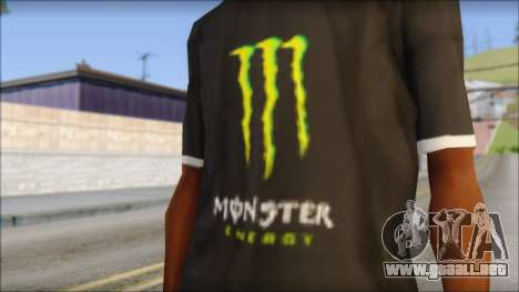 Monster T-Shirt Black para GTA San Andreas tercera pantalla