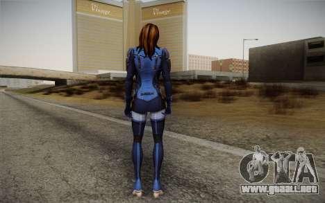 Ashley from Mass Effect 3 para GTA San Andreas segunda pantalla
