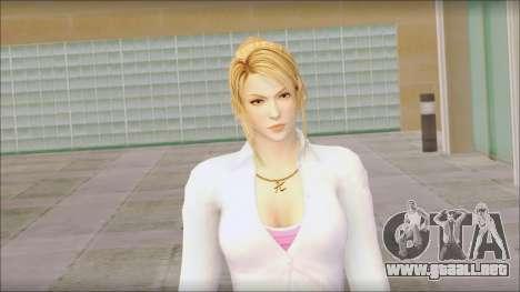 Sarah from Dead or Alive 5 v1 para GTA San Andreas tercera pantalla
