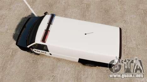 Vapid Speedo Los Santos Police [ELS] para GTA 4 visión correcta