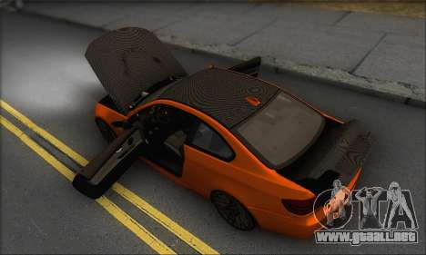 BMW M3 E92 Soft Tuning para vista inferior GTA San Andreas