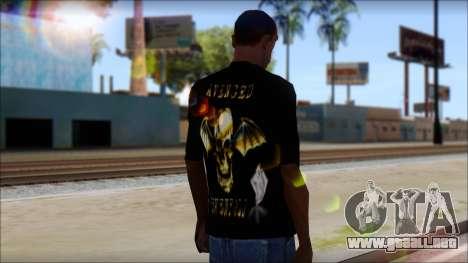 A7X Golden Deathbat Fan T-Shirt para GTA San Andreas segunda pantalla