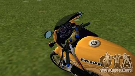 Kawasaki GPZ900R Ninja Tuned para GTA Vice City vista lateral izquierdo