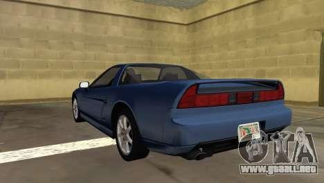 Acura NSX 1991 para GTA Vice City left