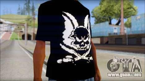 Skull T-Shirt Black para GTA San Andreas tercera pantalla