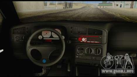 Volkswagen MK3 deLidoLu Edit para GTA San Andreas vista posterior izquierda