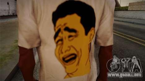 Yao Ming T-Shirt para GTA San Andreas tercera pantalla