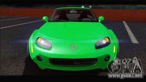 Mazda MX-5 2010 para GTA San Andreas vista hacia atrás