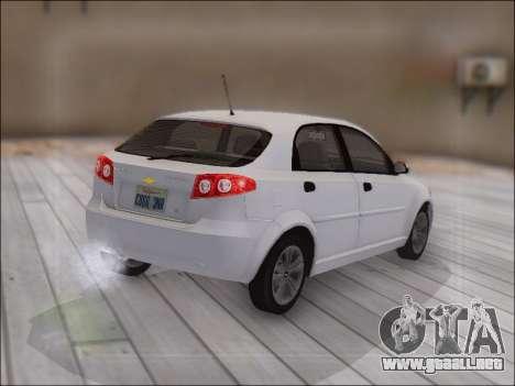 Chevrolet Lacetti para GTA San Andreas vista hacia atrás
