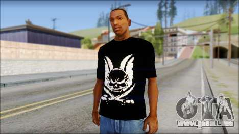 Skull T-Shirt Black para GTA San Andreas