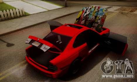 BMW M8 Custom para GTA San Andreas vista hacia atrás