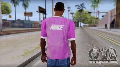 NIKE Pink T-Shirt para GTA San Andreas segunda pantalla