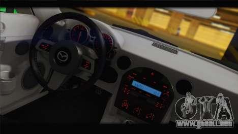 Mazda MX-5 2010 para GTA San Andreas vista posterior izquierda