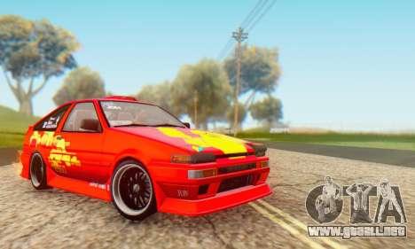 Toyota Corolla AE86 DS para la visión correcta GTA San Andreas