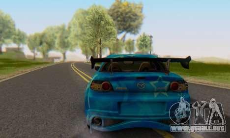 Mazda RX-8 VeilSide Blue Star para GTA San Andreas left