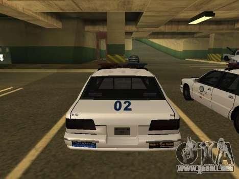 Police Original Cruiser v.4 para GTA San Andreas vista hacia atrás
